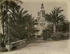 G.J. Monaco, Monte Carlo. Le Théâtre entre les palmiers  vintage albumen print.
