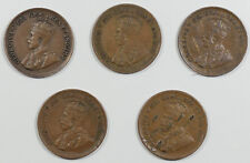 1932 x 2, 1933 x 3 CANADA ONE CENTS - LOT OF 5, HIGH GRADE EXAMPLES, NICE GROUP!