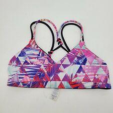 Ivivva By Lululemon Girl's Strappy Sports Bra White Size 10 pink black geometric