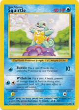 Squirtle 63/102 Unlimited Pokemon Original Card Base Set tcg limitless NM