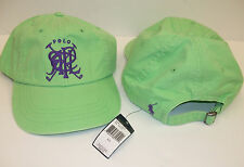 67fe0dba6db Polo Ralph Lauren Baseball Cap Green Purple Cross Mallets Logo Fabric Strap