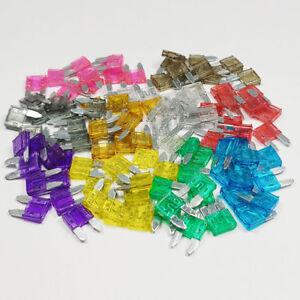 Mini Blade Fuse 2, 3, 4,5, 7.5, 10,15, 20, 25, 30Amp ATM Auto Car Van Bike Fuses