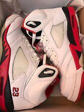Nike Air Jordan 5 V Retro White Fire Red Black 2006 Release Style ID 136027 162