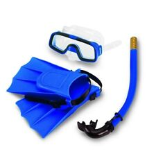 New listing Scuba Diving Fins Mask Snorkel Set Underwater Swimming Goggles for Kids Blue US