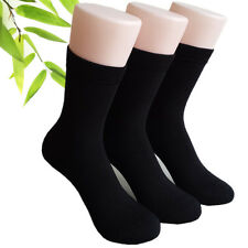 3X Black Bamboo Fibre Man business Socks Odor Resistant Antibacterial Healthy