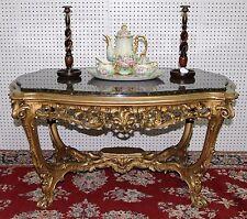 Fabulous Antique Carved Louis Xv Gold Gilt Center Table Granite Top Circa 1860