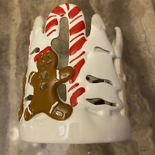 "Bath & Body Works Harry Slatkin Gingerbread 8.5"" 3-Wick Candle Holder Luminary"