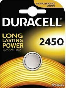 DURACELL 2450 CR2450 DL2450 ECR2450 3 V LITHIUM BATTERIA
