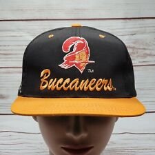 Rare Vintage Tampa Bay Buccaneers Script Spellout Embroidered Snapback Hat Cap