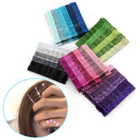 24x Candy Color Hair Clips Bobby Pins Accessories Wavy Hairpins Metal Barrettes