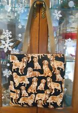 Golden Retriever Tote Bag Puppy Dogs Lunch, Book, Knitting, Gift Handmade Purse
