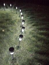 10pcs Garden Outdoor Solar LED Landscape Path Lights Waterproof Lawn Lamps US