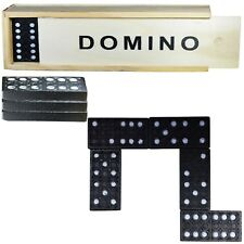 Domino Traditional Set Board Game Classic Wooden Box 28 Pieces Kids Fun Game