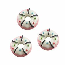 38510 White Tone Resin Made Flat Back Round Cake Charms Craft Decor 27PCS