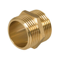 "Plumbob Brass Hexagon Nipple 1"" (Male) X"