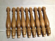 Lot of 9 vintage wooden spindles pegged chair, railing, planter