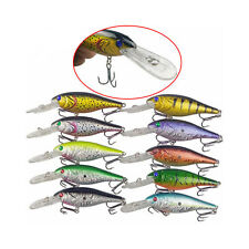 10pcs 9.5cm 10g CrankBait Lures Fishing Plastic Hard Body Minnow Bass Lure Set