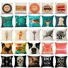 Cartoon Animal Cotton Linen Throw Pillow Case Sofa Cushion Cover Home Decor