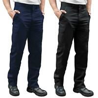 Mens Combat Cargo Work Trousers Size 30 to 42 Chino Pants with KNEE PADS