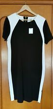 CALVIN KLEIN Fabulous Luxe Knit 2 Tone Sheath Dress Size L/ 14 ,16 AU, RRP $199