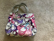 COACH Poppy Graphic Montage Glam Tote 17929