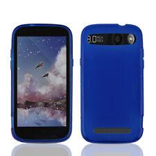 NEW For ZTE Warp Sync ( N9515 ) BLUE 1-PC TPU SKIN SOFT GEL CASE COVER CASE