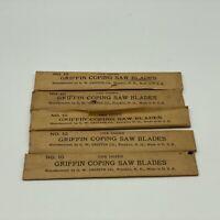 Vintage Griffin Loop End Coping Saw Blades No. 10 —- 5 Packs 12 Each Pack