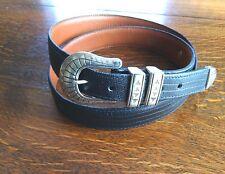 USA Nationwide Golf Championship Leather Belt Size 40'' Lizard Style 3295 Buckle