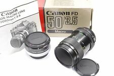 Canon FD 50mm f3.5 Macro lens, plus 25mm 1:1 tube, Boxed