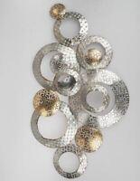 670526 Wanddeko Kreise 80 x 44 cm kunsthandwerklicher Artikel aus Metall