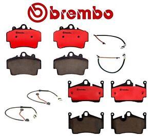 For Porsche Boxster 2.7L Front and Rear Ceramic Brake Pads & Sensors Kit Brembo