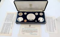 .1975 REPUBLIC OF PANAMA PROOF SET. LARGE SILVER CONTENT !! FRANKLIN MINT.
