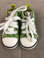 Boys Geox Shoes sneakers Size 5.5 Green Light Soft Worn Once