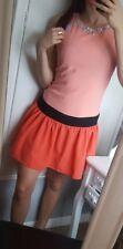 BNWT Lipsy ladies orange black beaded embellished short dress 10 rrp £55