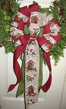 HANDMADE BOW BIRDHOUSE WIRED RIBBON for WREATH LANTERN GARLAND rb # 20