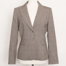 NWT $478.00 Tahari Taupe Brown Glenn Plaid Blazer Size 6