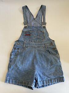 Vintage No Boundaries Womens Denim Overalls Shorts Shortalls Large