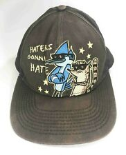 Vintage Used Regular Show Haters Gonna Hate Snapback Brown Baseball Cap Hat
