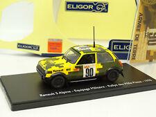 Eligor 1/43 - Renault 5 Alpine Equipage Militaire Rallye Des Milles Pistes 1978