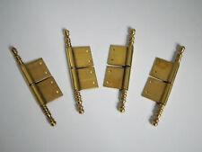 12,3 cm,Lot de 4 paire de fiche à larder Laiton,Vintage,Gond,Charnière Meuble