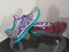 Brooks Adrenaline GTS 17 Womens 9 D (Wide) Silver / Blue / Purple