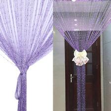 String Curtains Patio Net Fringe for Door Tassel Fly Screen Windows Divider Wniu 1pc Purple 100cm X 200cm