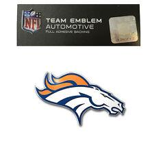 Promark New NFL Denver Broncos Color Aluminum 3-D Auto Emblem Sticker Decal