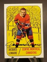 2001-02 Topps OPC Archives Autographs Jacques Lemaire Full Auto