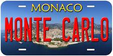 Monte Carlo Monaco Novelty Aluminum Auto Car License Plate