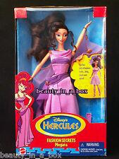 "Fashion Secrets Megara Doll Disney Mattel Hercules in Excellent Box """