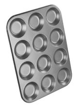 Chef Aid Non Stick Shallow Bun Tin 12 Cup [2853]