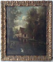 19th Century French Oil Painting Barbizon Landscape by PREVOST Pupil of COROT