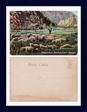 CANADA YUKON TERRITORY DAWSON BONANZA CREEK SHEEP SCENE DIVIDED BACK CIRCA 1907