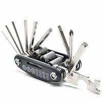 16-in-1 BIKE MULTI-TOOL socket spanner allen hex key tool set screwdriver in one